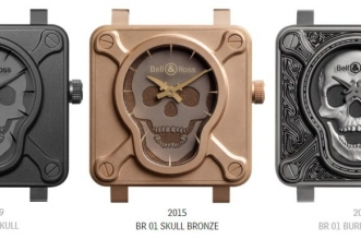 "Bell & Ross BR 01 ""Burning Skull"" Talisman Replica Watch"