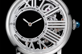 Swiss Made Cartier Rotonde De Cartier Mysterious Hour Skeleton Watch