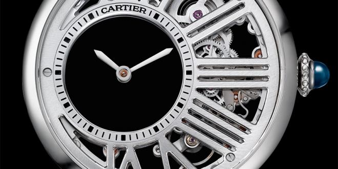 Swiss Made Cartier Rotonde De Cartier Mysterious Hour Skeleton Watch